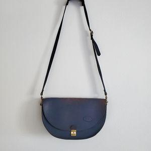 VTG Bree Rare Indigo Leather Messenger Bag